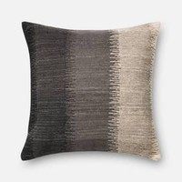 Grey and Ivory Pillow 22 X 22