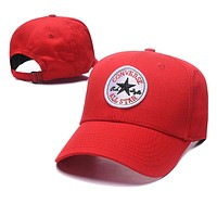 Wearwinds Converse Summer Fashion Women Men Embroidery Sports Sun Hat Baseball Cap Hat Red