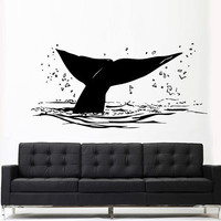 Wall Decal Mural Sticker Sea Ocean orca Fish whale Tail Animals Design Tribal (z3146)