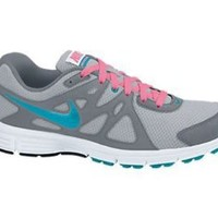 Nike Women's Revolution 2 Wlf Grey/N Trq/Cl Gry/Dgtl Pink Running Shoe 10 Women US