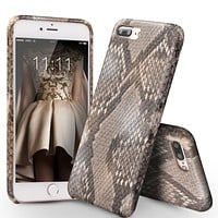 Case for iPhone7 Genuine Leather Phone Cover for iPhone7 plus Luxury Custom-built Python Skin Back Case for 4.7/5.5 inch