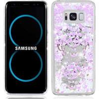 Samsung Galaxy S8 Liquid Heartcut Glitter Case