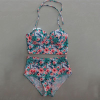 2 Pcs Bikini Tankini Set Women's Swimwear Bathing Suit P96B