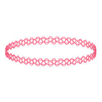 Pink Tattoo Choker - View All - Sale & Offers