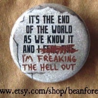 it's the end of the world by beanforest on Etsy