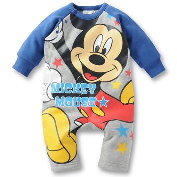 Baby clothing Rompers cartoon newborn boy clothes long-sleeved jumpsuit 2016 new baby girls meisjes kleding free shipping retail