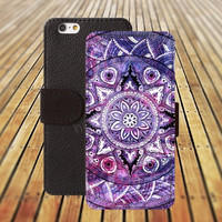 mandala watercolor colorful iphone 5/ 5s iphone 4/ 4s iPhone 6 6 Plus iphone 5C Wallet Case , iPhone 5 Case, Cover, Cases colorful pattern L029