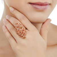 Coral Bloom Ring in Rose Gold