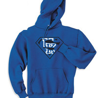 Blue University Kentucky Wildcats Superfan Superteam Superman Hoodie Hooded Sweatshirt  Ladies Unisex Child Toddler Men