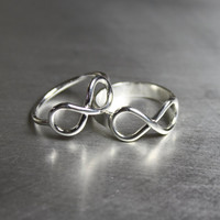 Infinity Ring, Sterling, Silver, Knot, Symbol, Forever, Jewelry