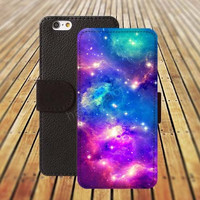 Nebula iphone 5/ 5s case iphone 4/ 4s iPhone 6 6 Plus iphone 5C Wallet Case , iPhone 5 Case, Cover, Cases colorful pattern L060