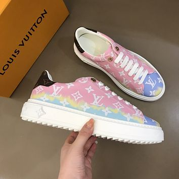 LV 2020ss thick sole fade color oldies sneaker