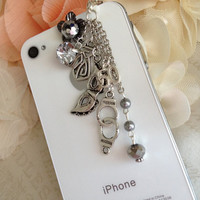 50 SHADES of grey inspired phone plug earphone plug by ComfyZone