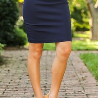 Feeling Accomplished Skirt-Navy