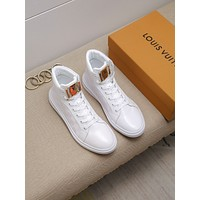 lv louis vuitton men fashion boots fashionable casual leather breathable sneakers running shoes 836