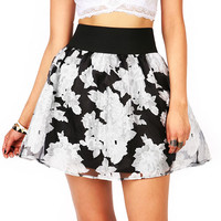Floral Negatives Skirt