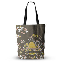 "Very Sarie ""Hope for the Flowers II"" Yellow Brown Everything Tote Bag"