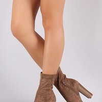 Liliana Stretchy Fit Peep Toe Booties
