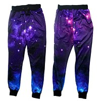 2015 New jogger pants 3D graphic galaxy space sweatpants men/women hip hop trousers emoji joggers plus size S-XL