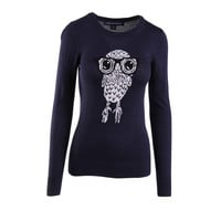 French Connection Womens Knit Graphic Pullover Sweater
