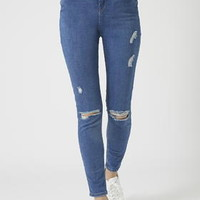 PETITE MOTO Ripped Jamie Jeans - Denim - Clothing
