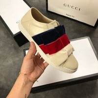 GUCCI Ace sneaker with velvet bows