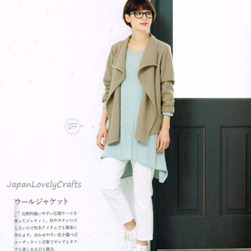 Comfortable & Simple Clothing - Japanese Sewing Pattern Book for Women Clothes, Easy Sewing Dress, Tunic, Skirt, Pants, Stole, Jacket, B1489