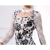 Black and white lace shirt