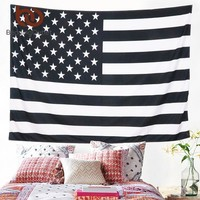 BeddingOutlet American Flag Tapestry Flag Printed Fashion Life Wall Tapestry Polyester Bedspreads Picnic Sheet 130x150 150x200cm