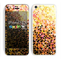 The Golden Abstract Tiled Skin for the Apple iPhone 5c