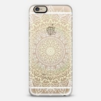 BOHO MANDALA IN PASTEL YELLOW AND WHITE- PHONE CASE iPhone 6 case by Nika Martinez | Casetify
