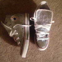 Fully Blinged Out Women's Converse Chuck Taylor's Customz