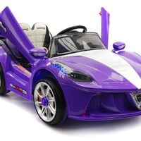 Spider GT Kids Ride-On Toy Car with Parental Remote | Purple