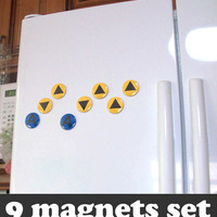 Legend of Zelda Magnets  Ocarina of Time by CuteAndCoolDesigns