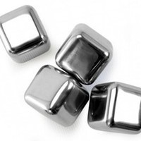Danesco Stainless Steel Reusable Ice Cubes - Set of 4