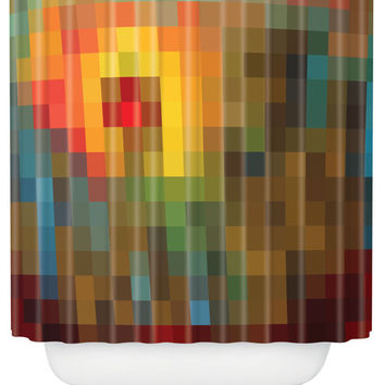 Madart Inc. Glorious Colors Shower Curtain - contemporary - shower curtains - by DENY Designs