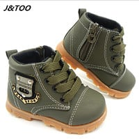 2016 autumn children sport shoes boys chaussure baby girls short boots for kids sneakers child Ankle casual martin shoes