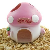 Alfie Lifestyle Small Animal Hideout - Mushroom Hut (Living Habitat for Dwarf Hamster and Mouse)