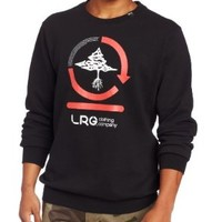 LRG Men's Team Cycle Sweat Shirt, Black, XX-Large