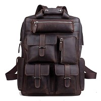Traveling Leather  LEATHER BACKPACK