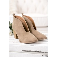 As You Wish Bootie (Taupe)