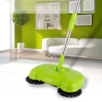 yiJiA Pushing Sweeper Vacuum Cleaner  Household Floor Cleaner Manually  Cleaning Machine Broom no need bend over no electricit