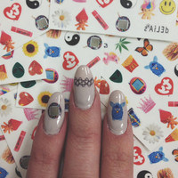 I LOVE THE 90s nail decals - set of 22 nail decals