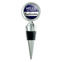 Sullivan Hello My Name Is Wine Bottle Stopper