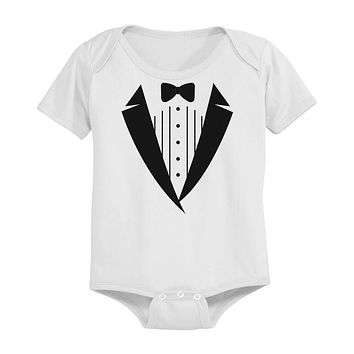 Tuxedo Funny White Baby Onesuit Great Gift Idea for Holidays