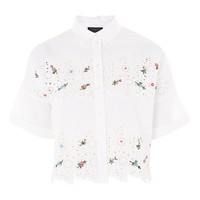 Embroidered Cutwork Shirt | Topshop