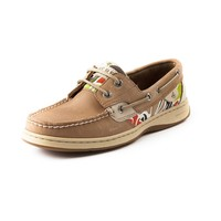 Womens Sperry Top-Sider Bluefish Boat Shoe, Tan Cabana Floral | Journeys Shoes