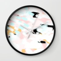 Summer Abstract 2 Wall Clock by Allyson Johnson | Society6