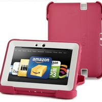 """OtterBox Defender Series Protective Case for Kindle Fire HD 7"""" (Previous Generation), Pink/Papaya (with built-in screen protection)"""