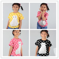 Girls Clothes Big Hero 6 Girls Clothes Big Hero 6 Baymax Printing T-shirt Baby Round Collar and Cotton Short Sleeve T-shirt